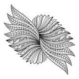 Objet abstrait de Deco de vecteur Danse de cigogne (vue supérieure) illustration stock