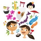 Objet d'icône de culture du Japon Photo libre de droits