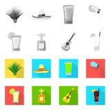 Objet d'isolement de café et de symbole latin Placez du café et du symbole boursier national pour le Web illustration libre de droits