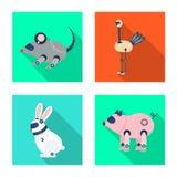 Objet d'isolement de jouet et de logo de la science Placez de l'icône de jouet et de vecteur de jouet pour des actions illustration stock