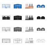 Objet d'isolement de logo de production et de structure Collection d'ic?ne de vecteur de production et de technologie pour des ac illustration de vecteur