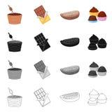 Objet d'isolement de nourriture et de symbole délicieux Placez de la nourriture et du symbole boursier brun pour le Web illustration libre de droits
