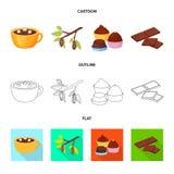 Objet d'isolement de nourriture et de symbole délicieux Placez de la nourriture et de l'icône brune de vecteur pour des actions illustration de vecteur