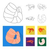 Objet d'isolement de symbole d'apéritif et d'océan Placez de l'icône de vecteur d'apéritif et de délicatesse pour des actions illustration stock