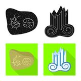 Objet d'isolement de symbole d'histoire et d'articles Collection de symbole boursier d'histoire et d'attributs pour le Web illustration de vecteur