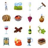 Objet d'isolement de symbole de raisin et d'?tablissement vinicole Placez du raisin et du symbole boursier de fabrication pour le illustration de vecteur