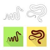 Objet d'isolement du mammif?re et du logo de danger Placez de l'illustration courante de vecteur de mammif?re et de m?decine illustration stock
