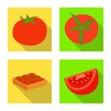 Objet d'isolement du signe végétal et délicieux Placez du symbole boursier végétal et naturel pour le Web illustration stock