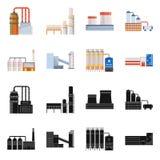 Objet d'isolement d'ic?ne de production et de structure Placez du symbole boursier de production et de technologie pour le Web illustration stock
