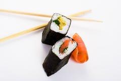 Objet d'isolement par sushi Photographie stock