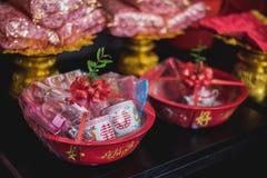 Objet dans la culture chinoise de mariage ou de fiançailles Photographie stock libre de droits