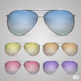 Objet de couleur de lunettes de soleil Photos stock