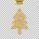Objet de scintillement d'or Photo stock