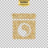 Objet de scintillement d'or Photo libre de droits