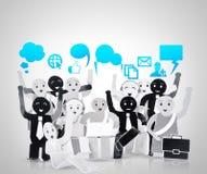 Objet de sourire pour le symbole du réseau de social d'affaires Photo libre de droits