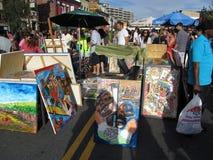 Objet exposé d'art de rue de H Images libres de droits