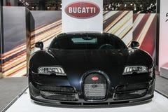 Objet exposé de Bugatti au salon de l'Auto 2016 d'International de New York Photo libre de droits