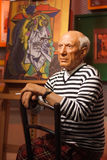 Objet exposé de figure de cire de Pablo Picasso Photos stock