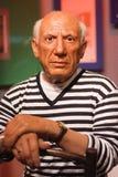 Objet exposé de figure de cire de Pablo Picasso Photo libre de droits