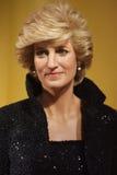 Objet exposé de figure de cire de princesse de Galles Photo stock
