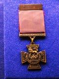 Objet exposé de médaille d'étoile de Mons dans le musée régimentaire dans le musée de ville à Lancaster Angleterre au centre de l images libres de droits