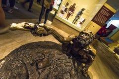 Objet exposé préhistorique (chez Smithsonien) photo stock