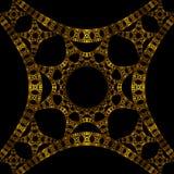 Objet façonné antique de médaillon d'or Photo libre de droits