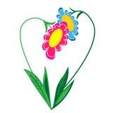 Objet floral du coeur illustration.isolated Photos libres de droits