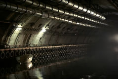Objet militaire classifié K-825 - base submersible souterraine Photo stock