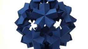 Objet modulaire d'origami de Sperical images stock