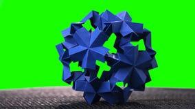Objet modulaire sphérique d'origami photographie stock