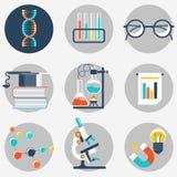 Objet plat de la Science et d'éducation Photo stock