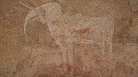 Objet superflu à la caverne de Phillipp en Namibie Photo libre de droits