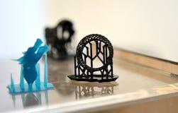 Objeta o photopolymer impresso em uma impressora 3d Fotos de Stock Royalty Free