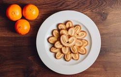 Objeta os detalhes do biscoito da maçã da foto de madeira Foto de Stock Royalty Free