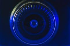 Objetiva com cor azul fotografia de stock
