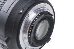 Objetiva com reflexões do lense Lente para a câmera de reflexo da única lente de SLR Câmera digital moderna de SLR Foto detalhada Foto de Stock