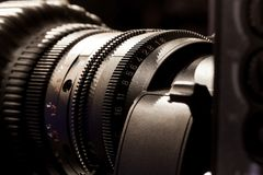 Objetiva do estúdio da televisão imagem de stock