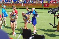 Objetivas triplas de Estonians em Rio2016 Imagens de Stock