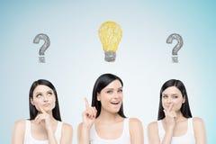 Objetivas triplas que resolvem um problema Imagens de Stock