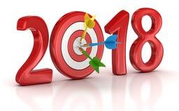 Objetivo 2018 ilustração stock