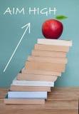 Objetivo alto en la educación Imagen de archivo libre de regalías
