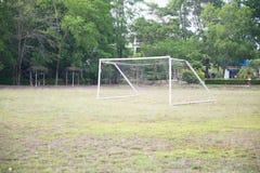 Objetivo amador vazio do futebol Foto de Stock Royalty Free