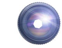 Objetivo con el rayo ligero imagenes de archivo