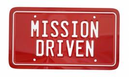 Objetivo conduzido missão 3d Illustrat da atitude da ambição da matrícula ilustração royalty free