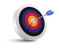 Objetivo de la blanco e icono de la flecha Fotos de archivo