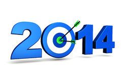 Objetivo de negócios 2014 do ano novo Imagens de Stock Royalty Free