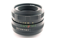 Objetivo de uma câmera da foto. 2 isolados imagem de stock