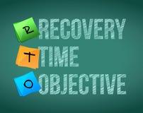 Objetivo del tiempo de recuperación Foto de archivo
