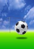 Objetivo do futebol Fotos de Stock Royalty Free